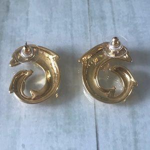 Jewelry - Vintage Dolphin earrings